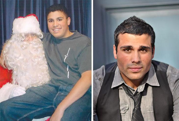 chico gordito cambia a hombre atractivo luego de la pubertad