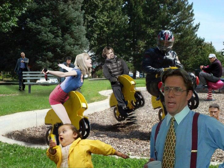 PS motociclista y 5 personajes mas