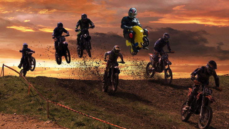 Muchas motos moto cross