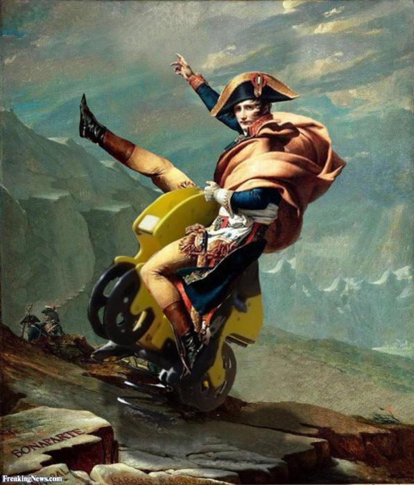 Napoleon en motocicleta
