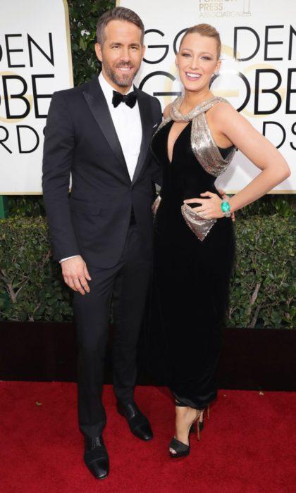 Blake y Ryan en la alfombra roja de los Golden Globes