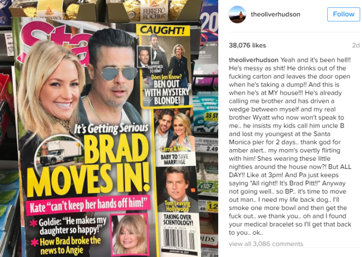 Brad Pitt y Kate Hudson romance