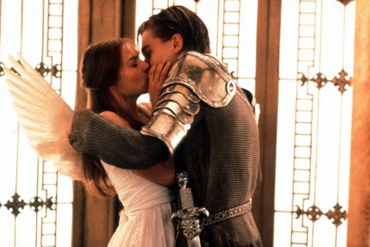 beso de Claire Danes y Leonardo DiCaprio