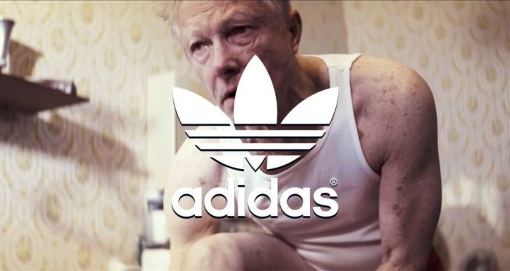 Hombre mayor logo adidas