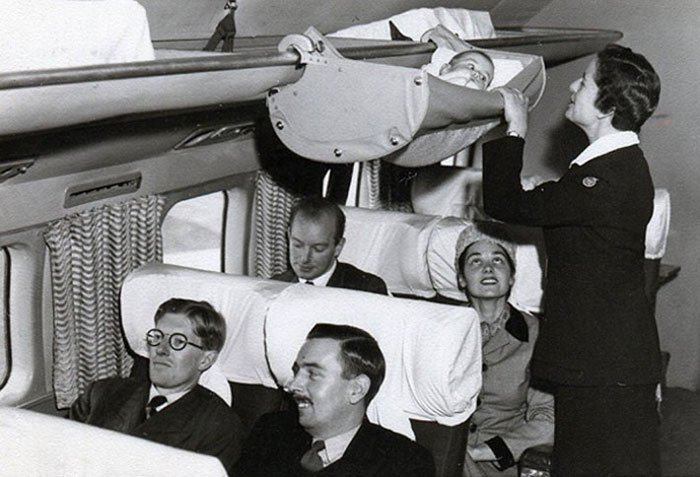 Como viajaban los bebes en los 50 3