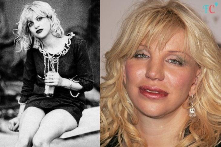 courtney love antes y después