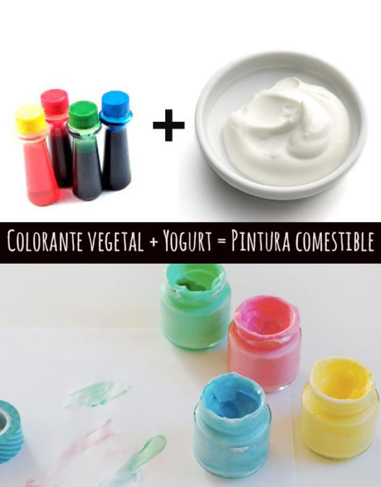 colorante artificial y yogur