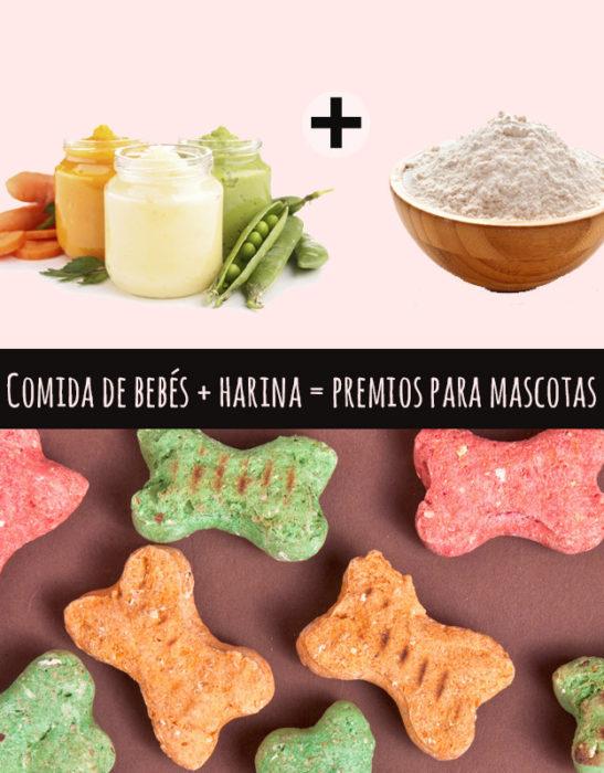 comida de bebé y harina