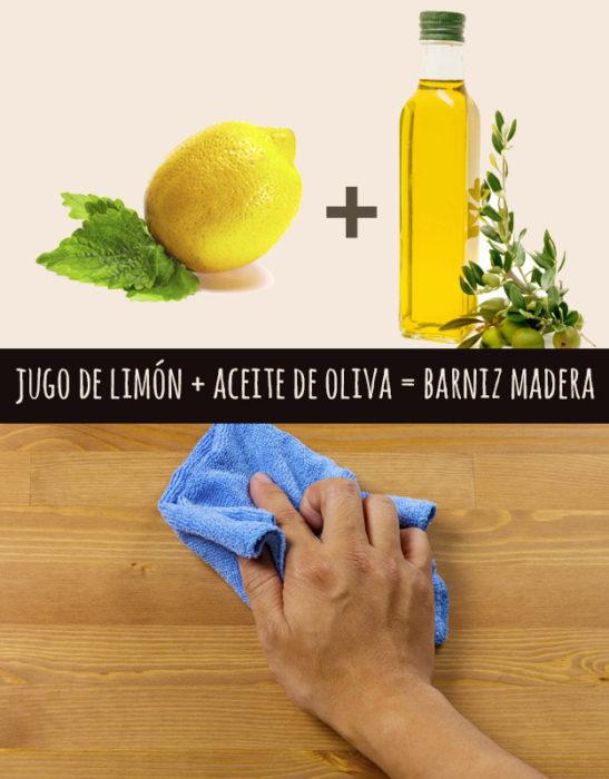 limón y aceite de oliva