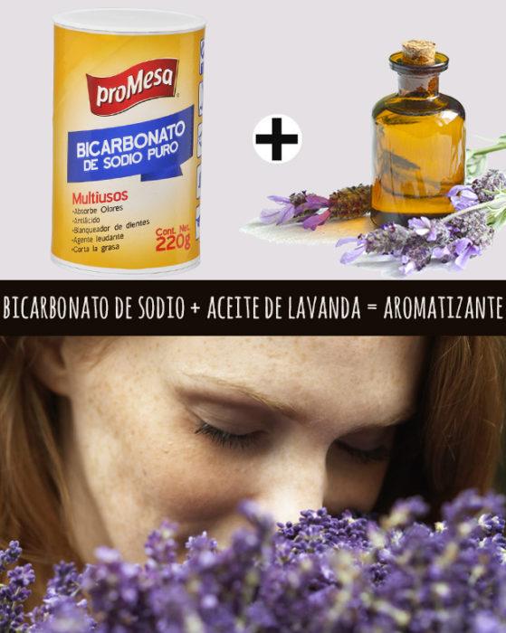 bicarbonato y aceite de lavanda