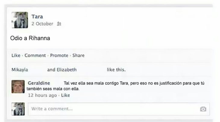 Gente mayor en Facebook - odio a rihanna