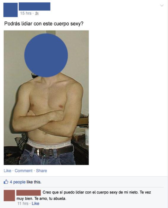 Gente mayor en Facebook - nieto sexy