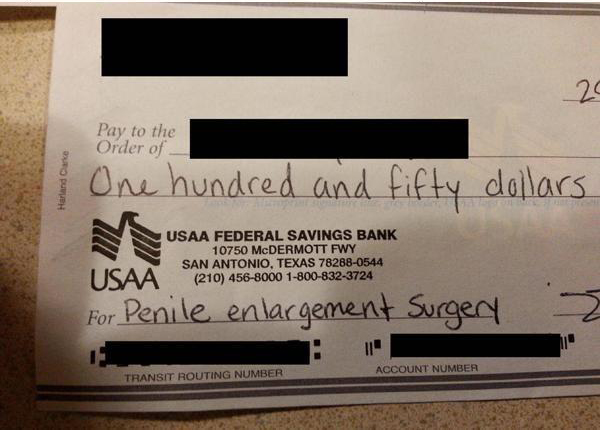 cheque para alargar el pene