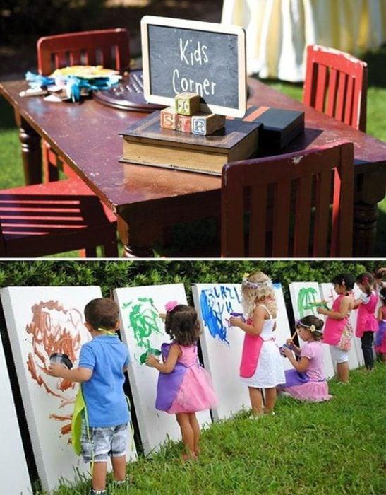 Area de niños para las bodas