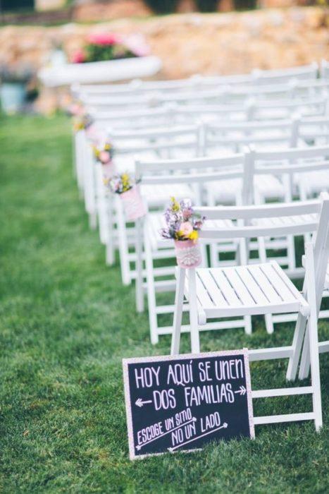 Sillas en una boda