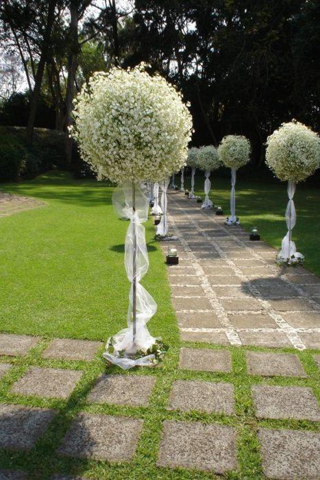 Camino flores boda
