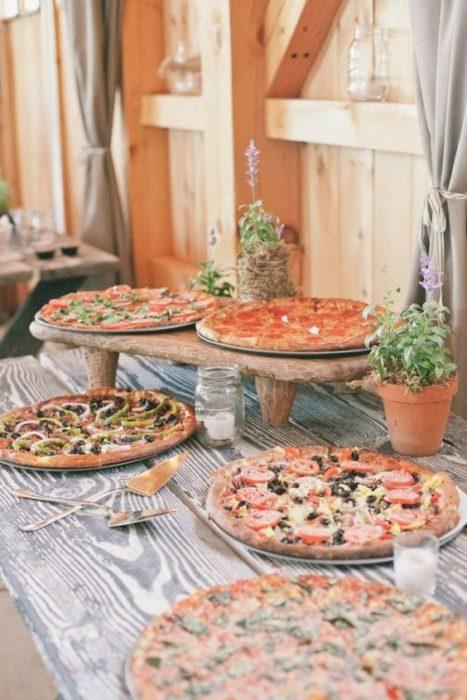 Pizzas boda