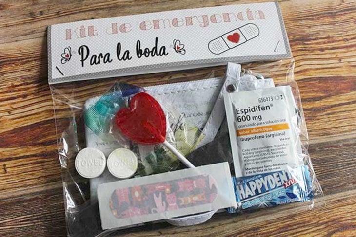kit de emergencia para boda