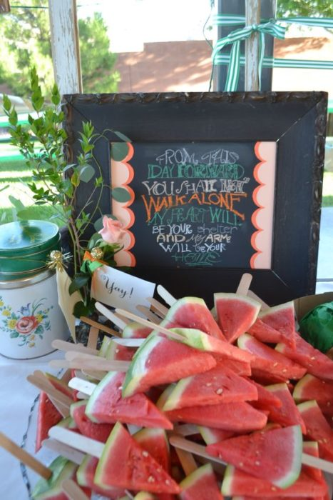 Snacks saludables para boda