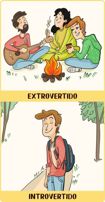 Introvertido vs Extrovertido aire libre