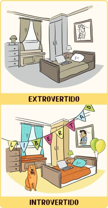 Introvertido vs Extrovertido casa