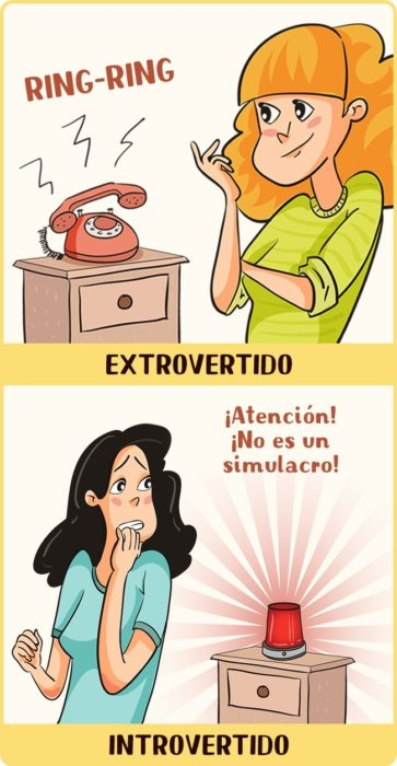 Introvertido vs Extrovertido llamadas