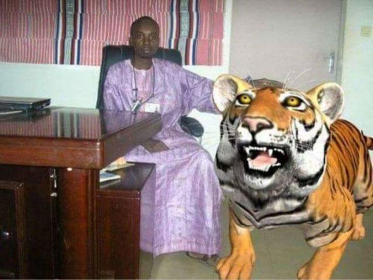 Photoshop - mascota tigre