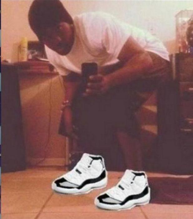 Photoshop - hombre con sus zapatos de marca