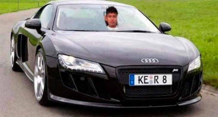 Photoshop - chico en su audi