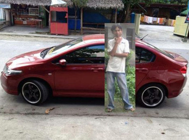 Photoshop - recargado en un carro