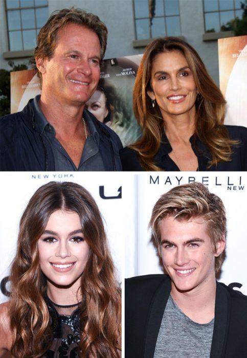 Kara, Presley Gerber y sus padres