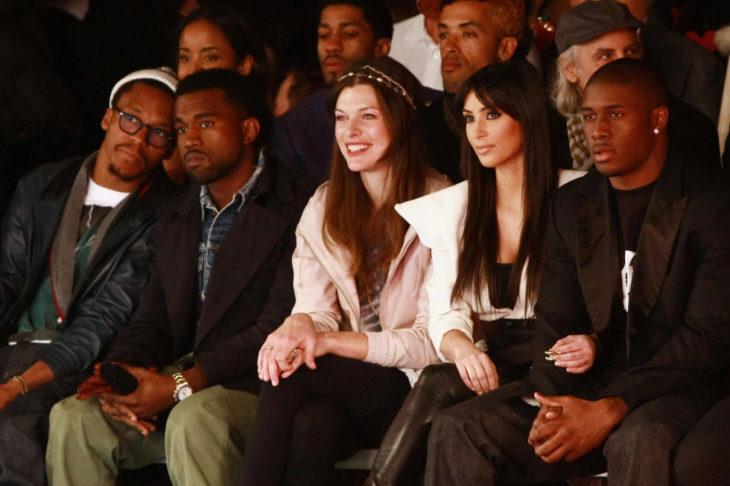 Kim Kardashian, Reggie Bush y Kanye West