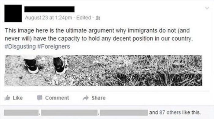 Madre trolea a hijo racista 1