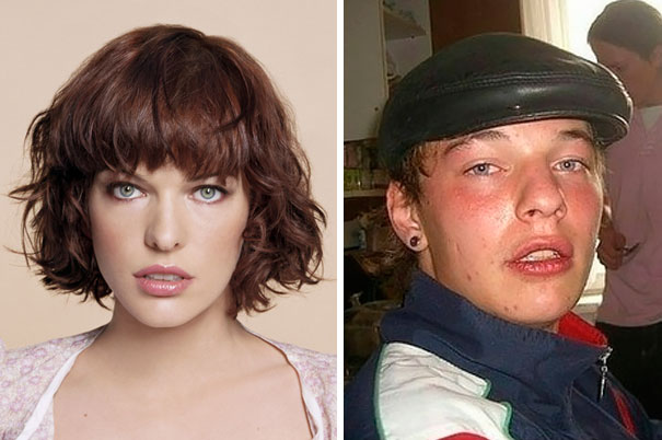 Milla Jovovich tiene un doble hombre