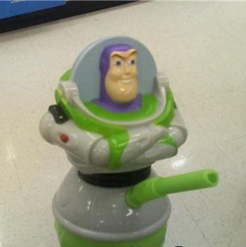buzz lightyear vaso con popote