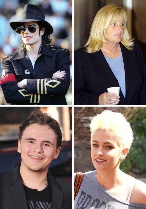 Prince Michele y Paris Michele Katherine Jackson y sus padres