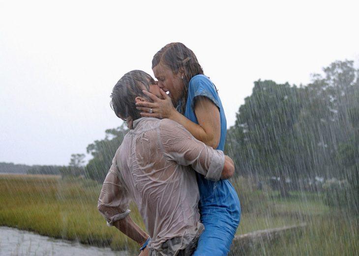 beso de Rachel McAdams y Ryan Gosling