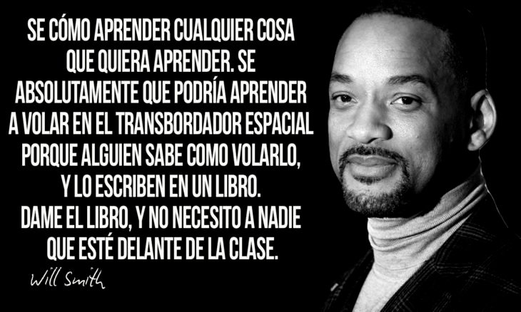 frase de will smith sobre aprender