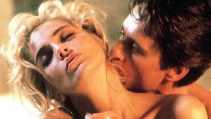 beso de Sharon Stone y Michael Douglas