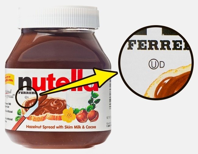empaque de nutella