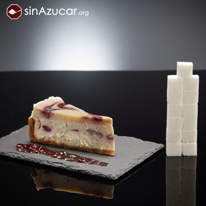 Cuanto azúcar contiene pastel de queso