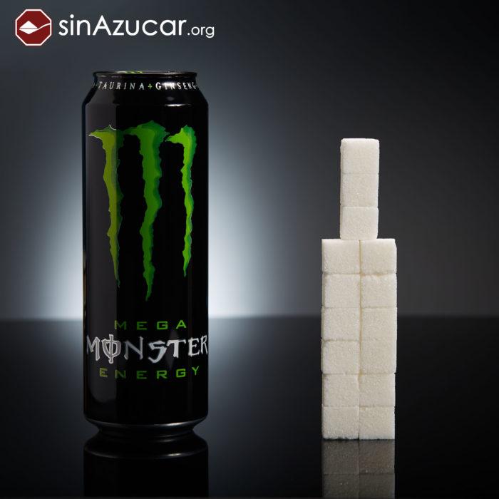 Cuanto azúcar contiene bebida monster