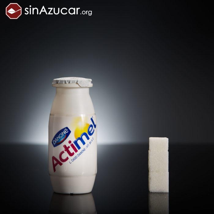 Cuanto azúcar contiene actimel