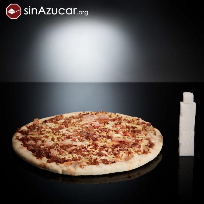 Cuanto azúcar contiene pizza