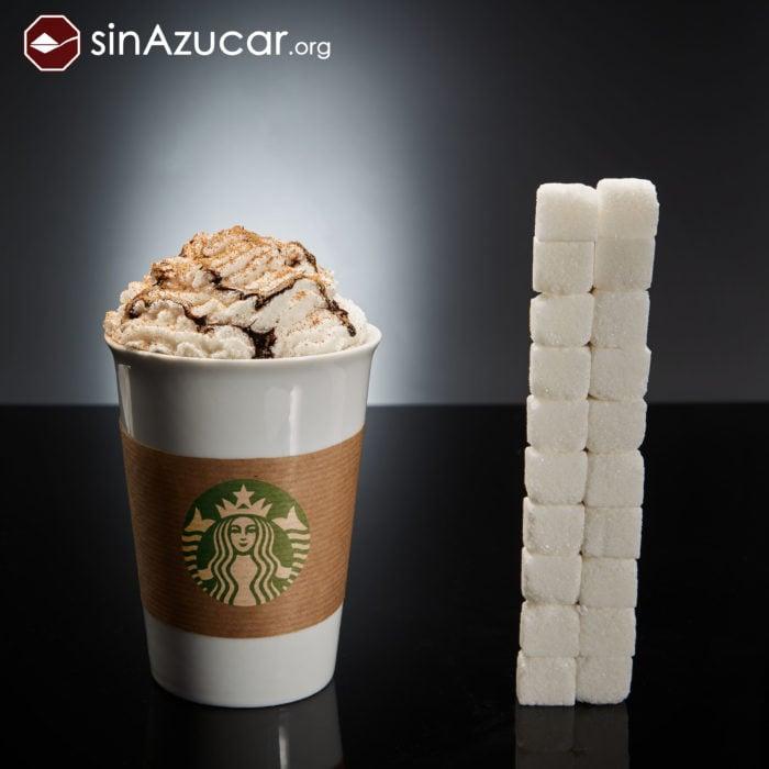 Cuanto azúcar contiene starbucks