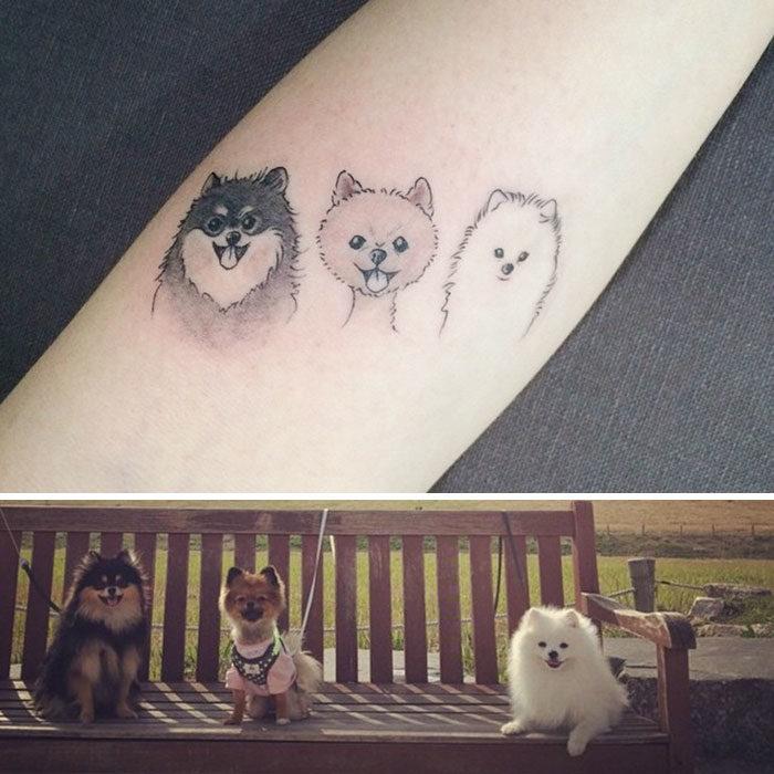 Tatuajes homenaje perros