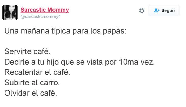 Tuits paternidad - rutina en la mañana