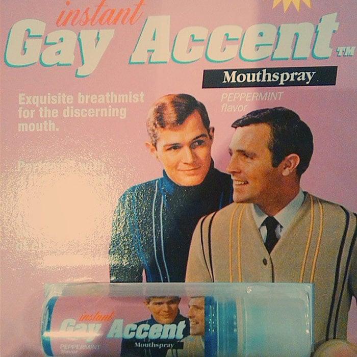 rociador de acento gay
