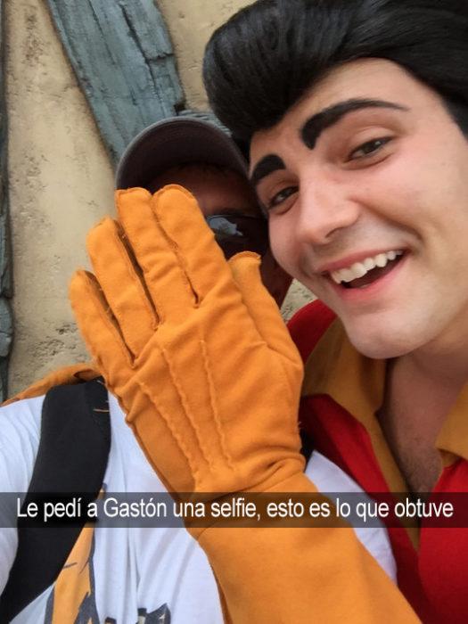 selfie con gastón