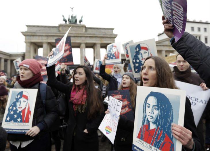protesta de las mujeres en alemania